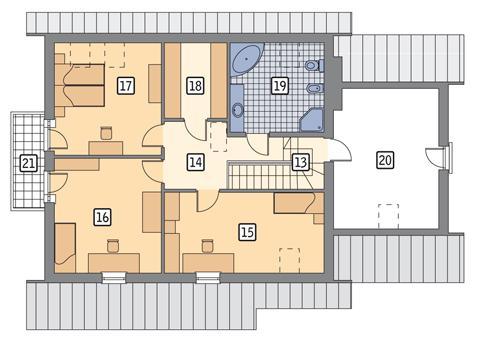 Rzut poddasza POW. 123,2 m²