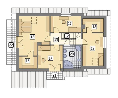 Rzut poddasza POW. 112,2 m²