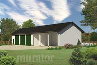 GMC03c Budynek garażowo-magazynowy z wiatą