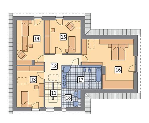 Rzut poddasza POW. 114,4 m²