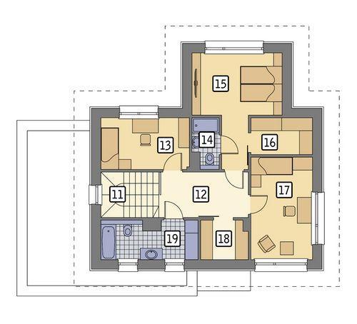 Rzut piętra POW. 70,2 m²