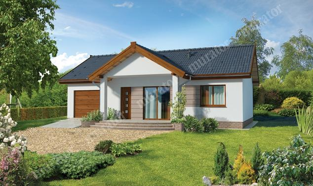 Projekt domu:  Murator C272b   – Filigranowy - wariant II