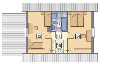 RZUT PODDASZA POW. 25,8 m²